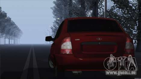 VAZ 1118 Kalina für GTA San Andreas zurück linke Ansicht