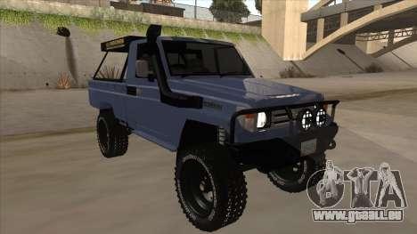 Toyota Machito Pick Up 2009 pour GTA San Andreas laissé vue