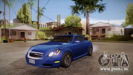Lexus SC430 2JZ-GTE Black Revel für GTA San Andreas