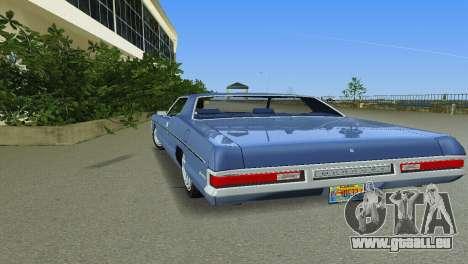 Mercury Monterey 1972 pour une vue GTA Vice City de l'intérieur