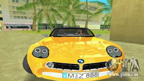 BMW Z8 pour GTA Vice City sur la vue arrière gauche