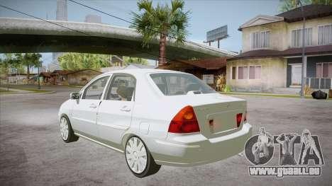 Suzuki Liana 1.3 GLX 2002 pour GTA San Andreas sur la vue arrière gauche