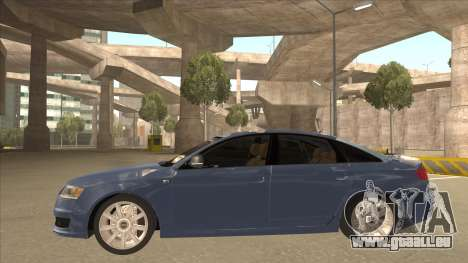 2010 Audi A6 4.2 Quattro pour GTA San Andreas sur la vue arrière gauche