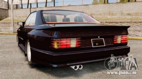 Mercedes-Benz C126 500SEC pour GTA 4 Vue arrière de la gauche