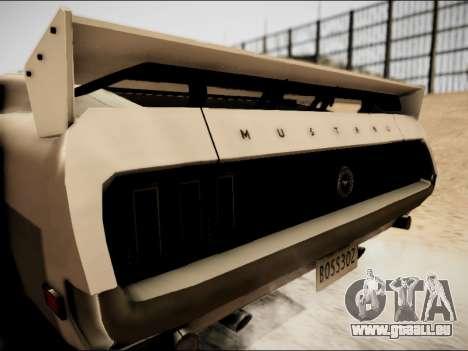 Ford Mustang Boss 302 1969 für GTA San Andreas zurück linke Ansicht