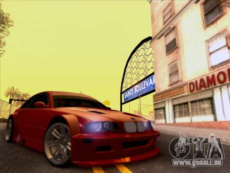 BMW M3 E46 GTR für GTA San Andreas Innenansicht