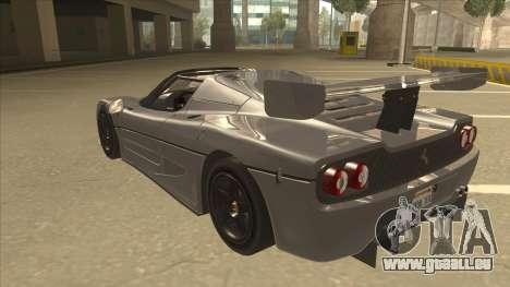 Ferrari F50 GT TT Black Revel für GTA San Andreas Rückansicht