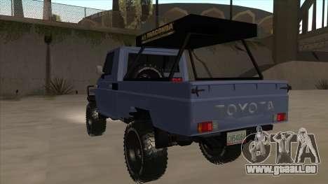 Toyota Machito Pick Up 2009 pour GTA San Andreas vue arrière