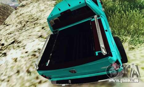 Dodge Ram 2500 HD für GTA San Andreas zurück linke Ansicht