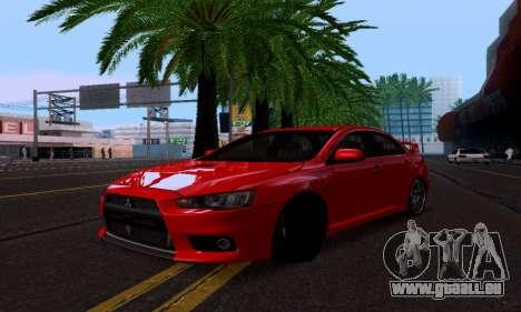 Mitsubishi Lancer Evo Drift Edition pour GTA San Andreas