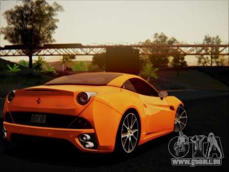 Ferrari California 2009 für GTA San Andreas obere Ansicht