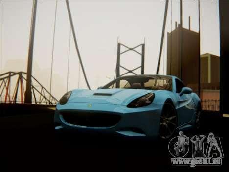 Ferrari California 2009 pour GTA San Andreas vue de droite