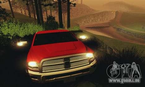 Dodge Ram 2500 HD für GTA San Andreas obere Ansicht
