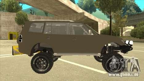 Mitsubishi Montero EDVARD [ERICK] pour GTA San Andreas sur la vue arrière gauche