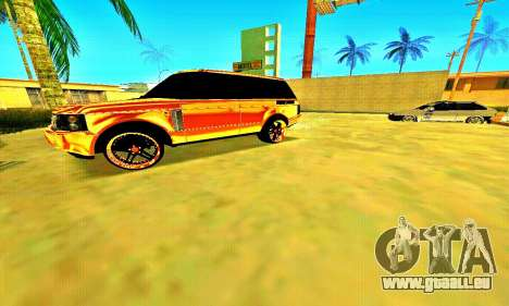 Land Rover Range Rover pour GTA San Andreas laissé vue
