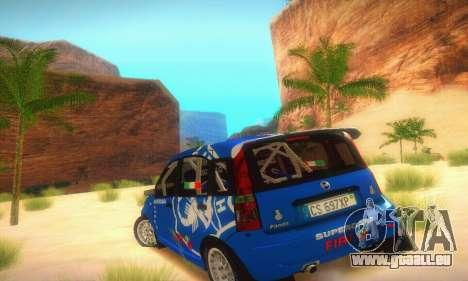 Fiat Panda Rally pour GTA San Andreas vue de droite