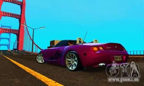 BMW Z4 2005 für GTA San Andreas zurück linke Ansicht