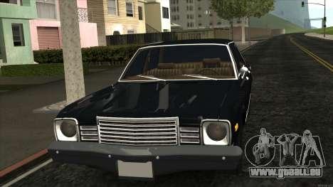 Ford Aspen 1979 pour GTA San Andreas laissé vue