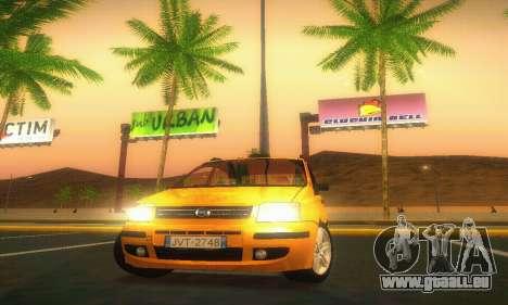 Fiat Panda Taxi für GTA San Andreas Innenansicht