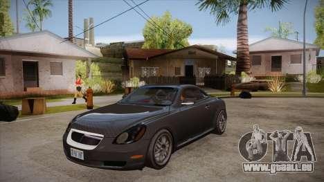 Lexus SC430 2JZ-GTE Black Revel pour GTA San Andreas vue intérieure