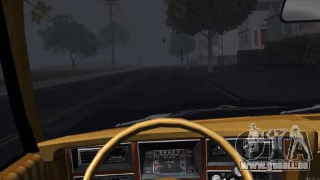 Ford Aspen 1979 pour GTA San Andreas vue intérieure