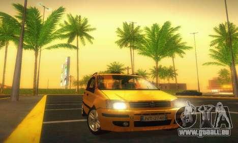 Fiat Panda Taxi für GTA San Andreas Rückansicht