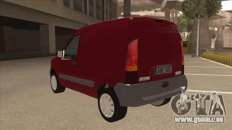 RENAULT KANGOO v1 pour GTA San Andreas vue arrière