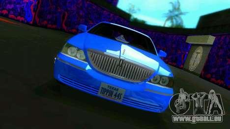 Lincoln Town Car Tuning pour une vue GTA Vice City de la gauche