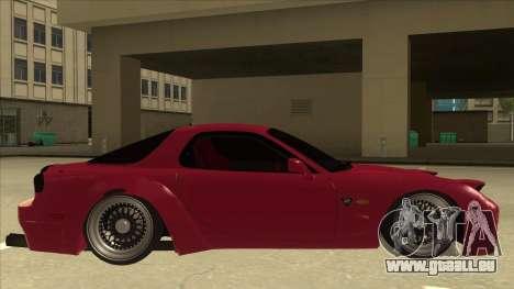 Mazda RX7 FD3S Rocket Bunny für GTA San Andreas zurück linke Ansicht