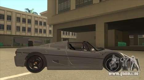Ferrari F50 GT TT Black Revel pour GTA San Andreas sur la vue arrière gauche