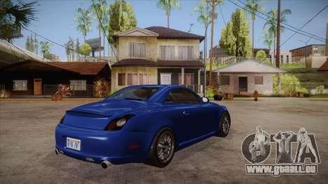 Lexus SC430 2JZ-GTE Black Revel pour GTA San Andreas vue de droite