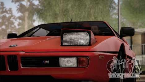 BMW M1 (E26) 1979 pour GTA San Andreas salon