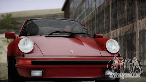 Porsche 911 Turbo 3.3 Coupe 1982 für GTA San Andreas Innen