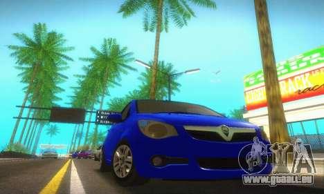 Vauxhall Agila 2011 für GTA San Andreas zurück linke Ansicht