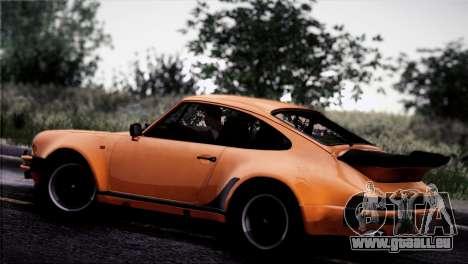 Porsche 911 Turbo 3.3 Coupe 1982 pour GTA San Andreas vue de dessus