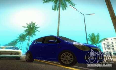 Vauxhall Agila 2011 pour GTA San Andreas vue arrière