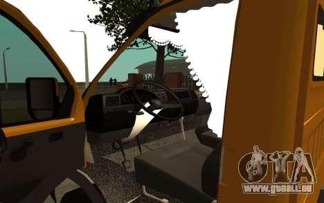 Business 33022 gazelle pour GTA San Andreas vue arrière