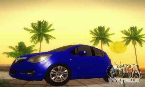Vauxhall Agila 2011 pour GTA San Andreas laissé vue
