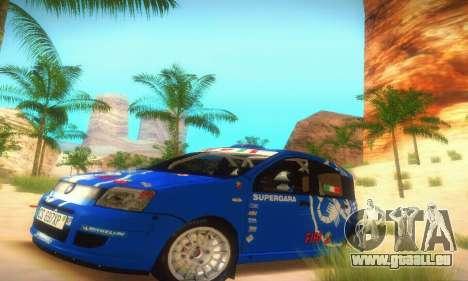 Fiat Panda Rally pour GTA San Andreas laissé vue