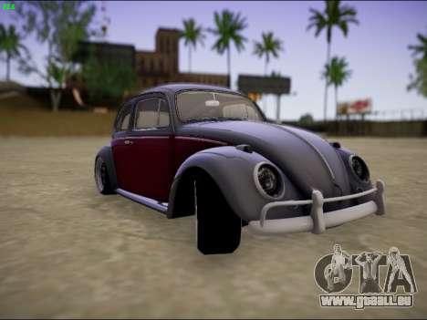 Volkswagen Beetle pour GTA San Andreas vue arrière