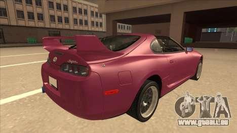 Toyota Supra MKIV für GTA San Andreas rechten Ansicht
