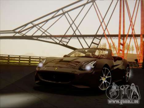 Ferrari California 2009 pour GTA San Andreas laissé vue