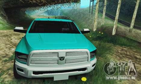 Dodge Ram 2500 HD pour GTA San Andreas vue arrière