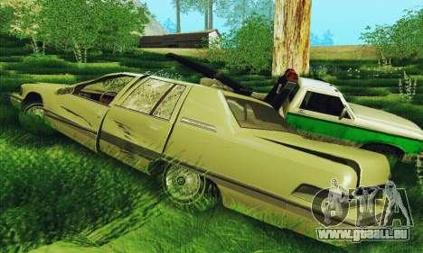 Buick Roadmaster cassé pour GTA San Andreas sur la vue arrière gauche