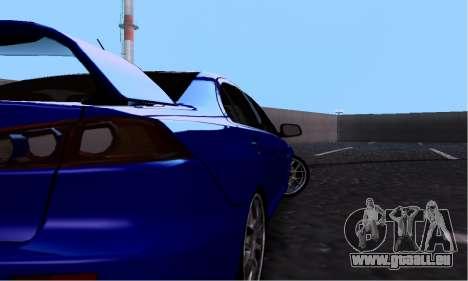 Mitsubishi Lancer Evo Drift Edition für GTA San Andreas Rückansicht