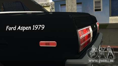 Ford Aspen 1979 pour GTA San Andreas vue arrière