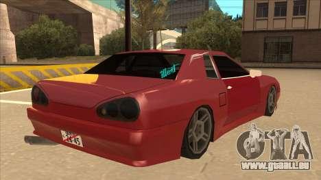 Elegy240sx Street JDM pour GTA San Andreas vue de droite