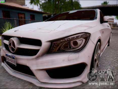 Mercedes-Benz CLA 250 pour GTA San Andreas sur la vue arrière gauche