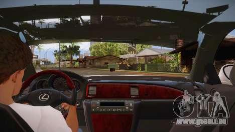 Lexus SC430 2JZ-GTE Black Revel für GTA San Andreas Motor