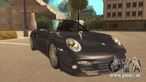 Porsche 911 Turbo Cabriolet 2008 pour GTA San Andreas laissé vue